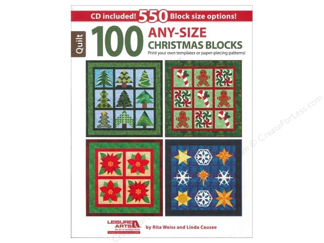 Leisure Arts 100 Any-Size Christmas Blocks Book
