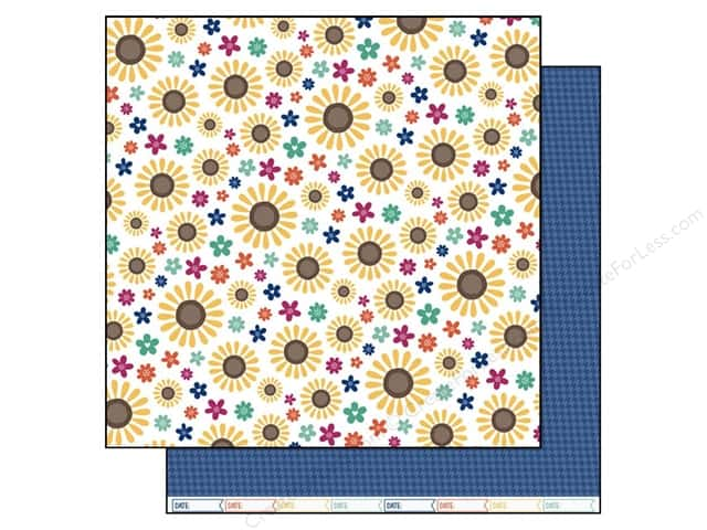 "Lawn Fawn Sweater Weather Paper 12""x 12"" Sunny (12 sheets)"