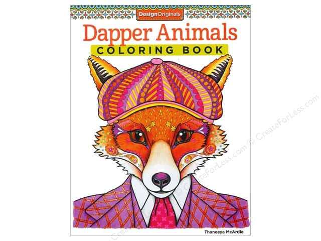 Design Originals Coloring Dapper Animals Book
