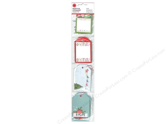 Martha Stewart Gift Tags Merry and Bright PreMade (3 sets)