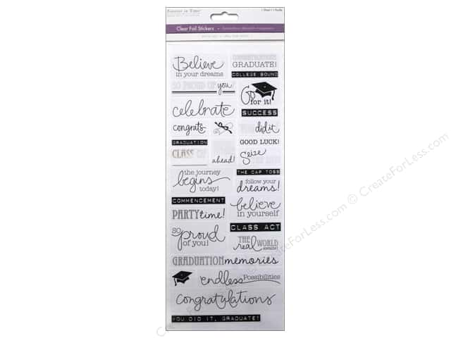 Multicraft Sticker Clear Foil Graduation Sayings