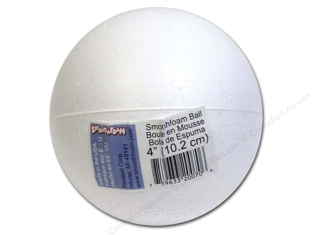 "Smoothfoam Ball Bulk 4"" White 1pc"