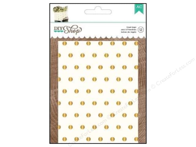 American Crafts Treat Bags 12 pc. DIY Shop 2 Gold Dots