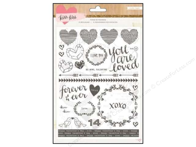 Crate Paper Rub Ons Kiss Kiss Collection 75 pc.