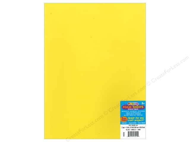Foamies Sticky Sheet 9 x 12 in. Yellow (10 sheets)
