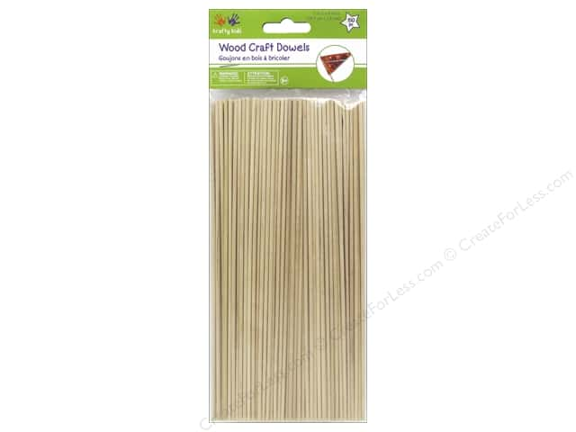 Craft medley wood dowel 7 3 4 x 1 16 in natural 150 pc for Wooden dowels for crafts