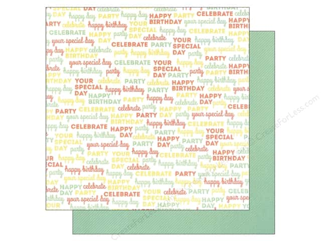 "We R Memory Keepers Cakes & Candles Paper 12""x 12"" Celebrate (12 sheets)"