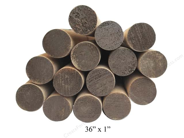 Wood Dowels 36 x 1 in. (12 pieces)