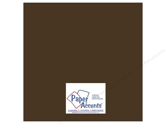 Paper Accents Adhesive Vinyl 12 x 12 in. Removable Brown (12 sheets)