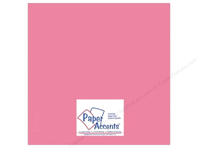 Paper Accents Adhesive Vinyl 12 x 12 in. Removable Soft Pink (12 sheets)