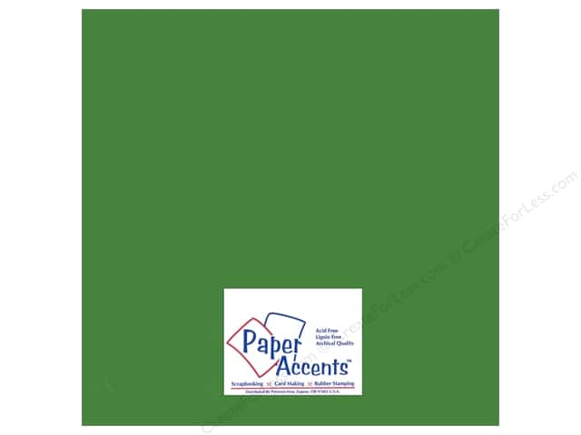 Paper Accents Adhesive Vinyl 12 x 12 in. Removable Light Green (12 sheets)