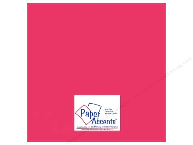 Paper Accents Adhesive Vinyl 12 x 12 in. Removable Pink (12 sheets)
