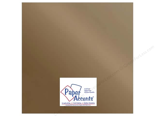 Paper Accents Adhesive Vinyl 12 x 12 in. Removable Metallic Copper (12 sheets)