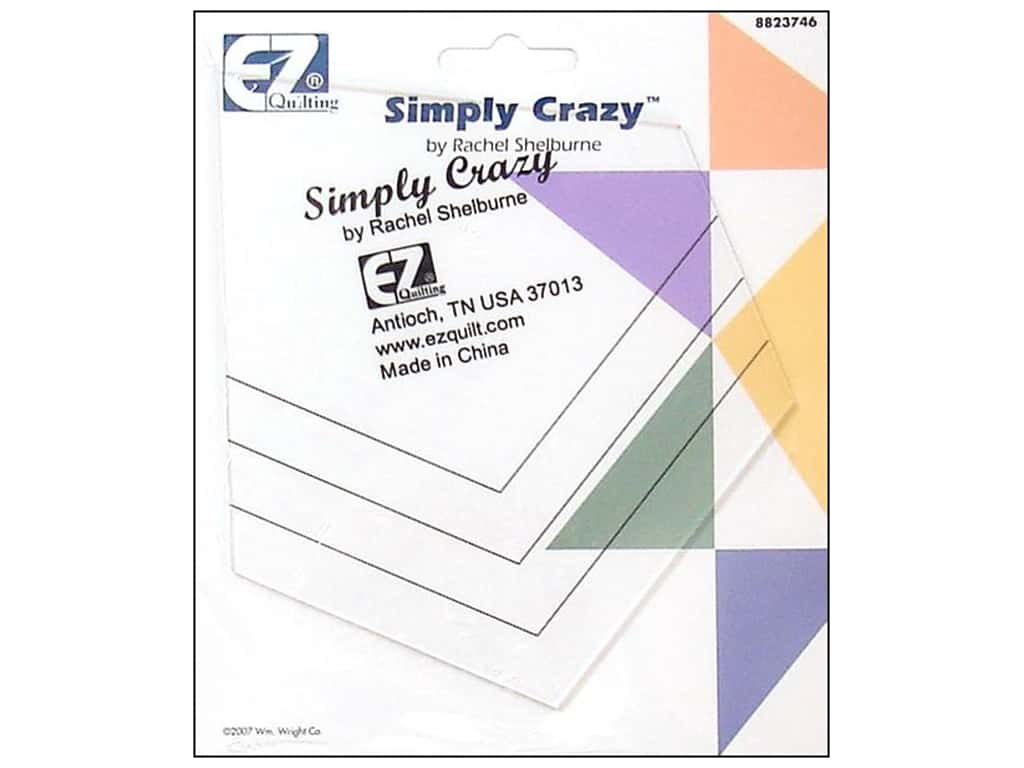 How To Use Acrylic Quilting Templates : EZ Quilting Simply Crazy Acrylic Template