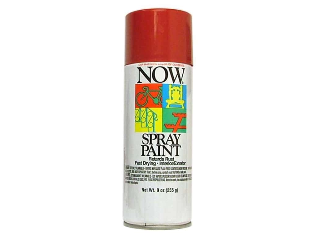 Krylon Now Spray Paint 9oz Wagon Red