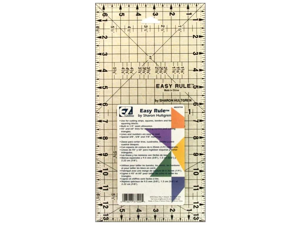 EZ Quilting Easy Rule Acrylic Ruler 6 1 2 X 13 In