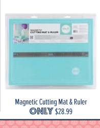 We R Memory Keepers Magnetic Cutting Mat & Ruler