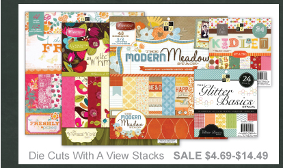 Scrapbooking Sale - Die Cuts with a View Stacks
