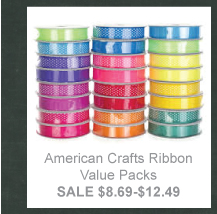 Scrapbooking Sale - American Crafts Ribbon Value Packs