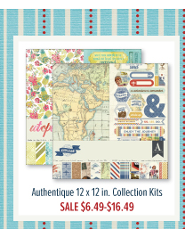 Authentique 12 x 12 in. Collection Kits