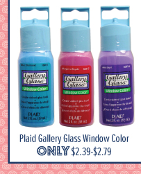 Plaid Gallery Glass Window Color