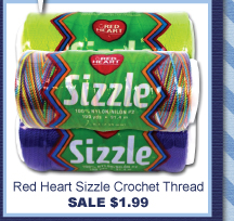 Red Heart Sizzle Crochet Thread