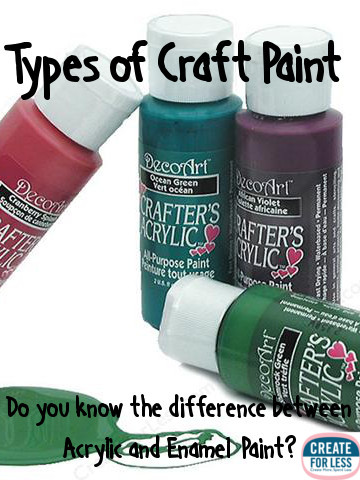 Craft paint finding the right type createforless for Types of acrylic paint