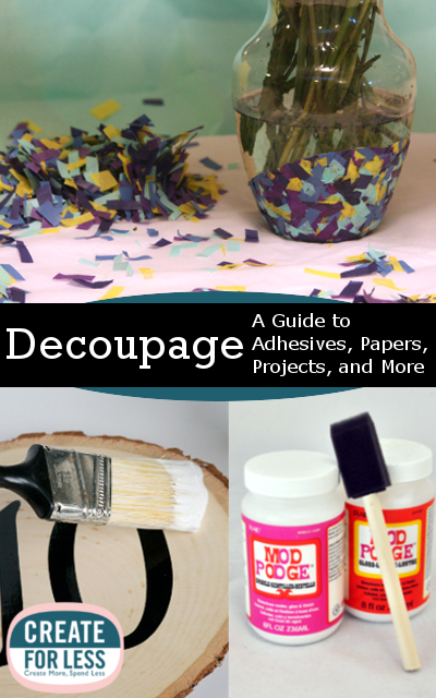 Decoupage methods materials and project ideas for Craft supplies online cheap