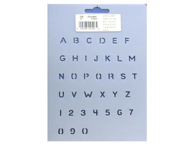 Quilting Creations Stencil 1/4 in. Alphabet and Numbers -- CreateForLess