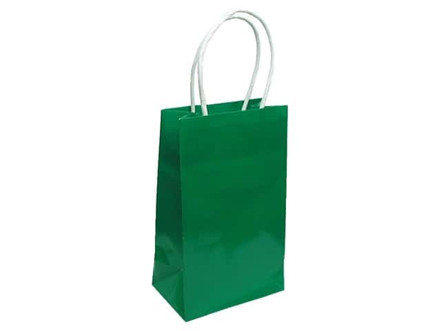 Small Gift Bag By Cindus Clay Coat Emerald Green
