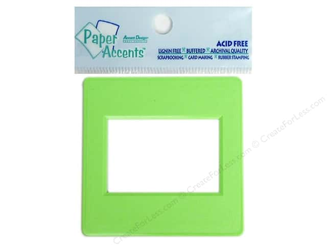 Paper Accents Slide Frame 5pc Lime Green -- CreateForLess