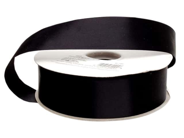 Offray Double Face Satin Ribbon 1 2 In X 50 Yd Black Yards