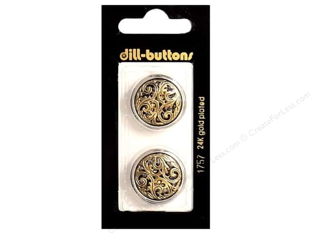 crafts for less dill shank buttons 7 8 in antique gold 1757 2pc 1757