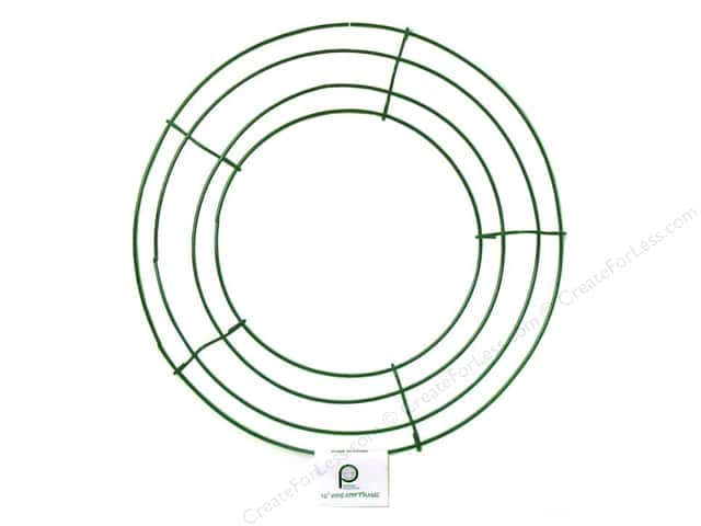 panacea box wire wreath frame 10 in green 10 pieces - Wire Wreath Frame Wholesale