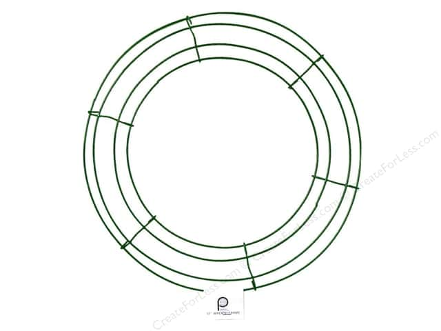panacea box wire wreath frame 12 in green 10 pieces - Wire Wreath Frame