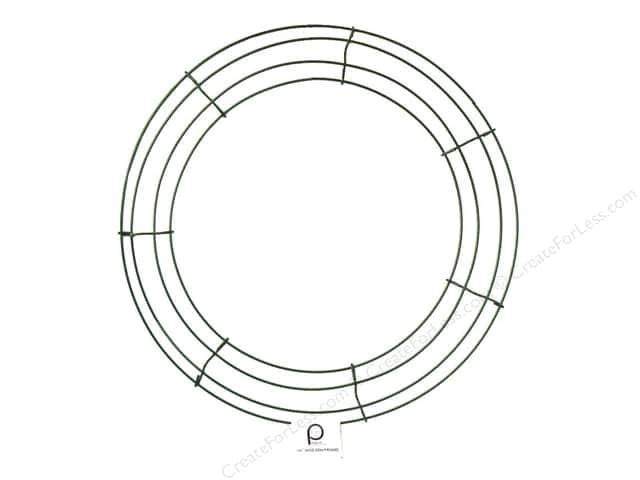 panacea box wire wreath frame 14 in green 10 pieces - Wire Wreath Frame
