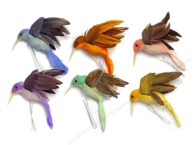 Accent design artificial bird 2 in hummingbird feather 1 for Synthetic feathers for crafts