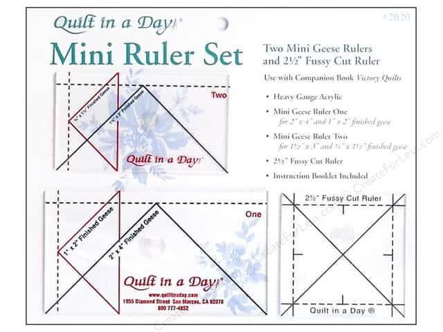 Quilt In A Day Ruler Set Mini Geese -- CreateForLess : quilt in a day ruler - Adamdwight.com