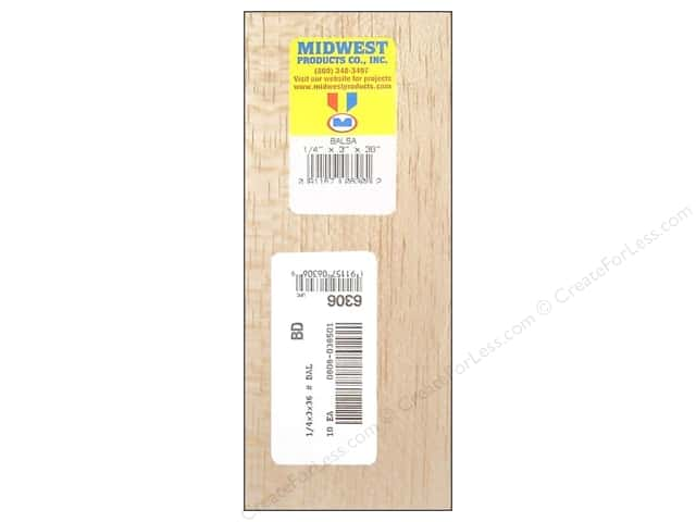Midwest Balsa Wood Strips 1 4 X 3 X 36 In 10 Pieces Createforless