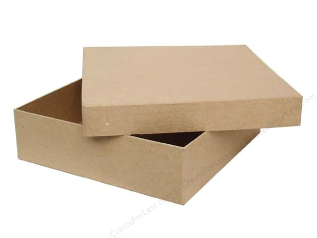 mache square chipboard box by craft pedlars 6 boxes createforless