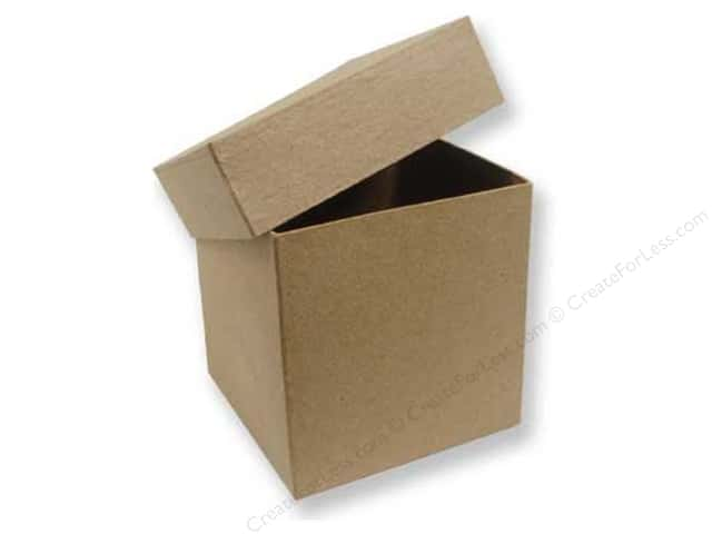 paper mache tall square box 4 in 12 boxes createforless