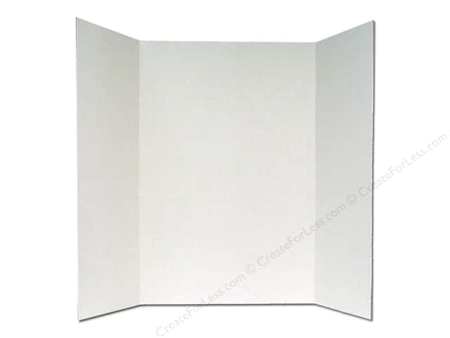 elmers trifold display board 36 x 48 in white