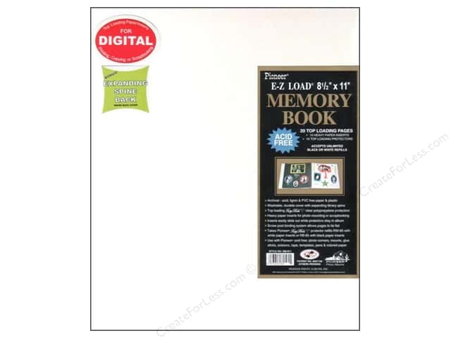 Pioneer Scrapbook Album 8 12 X 11 In Leatherette Wh Createforless