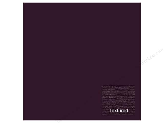 american crafts 12 x 12 in cardstock textured eggplant 25 sheets