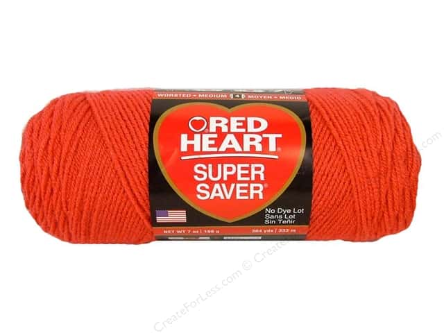 Red Heart Super Saver Yarn #0726 Coral 364 yd ...