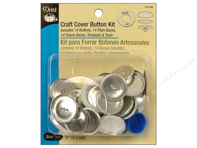 Cover Button Kit by Dritz Craft 7/8 in. 14 pc. -- CreateForLess