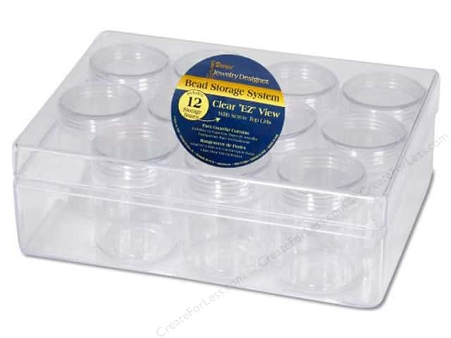 Darice Bead Storage System 6 14 x 4 34 x 2 in with 12 Containers