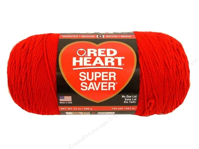 Red Heart Super Saver Jumbo Yarn #319 Cherry 744 yd ...
