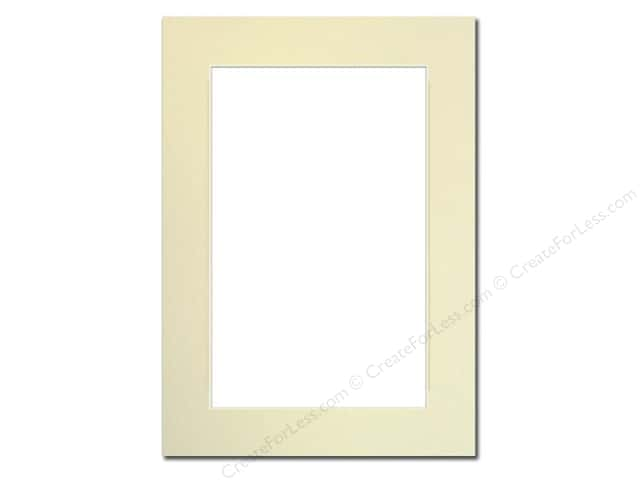 Pre Cut Photo Mat Board Cream Core 5 X 7 In Ivory Createforless