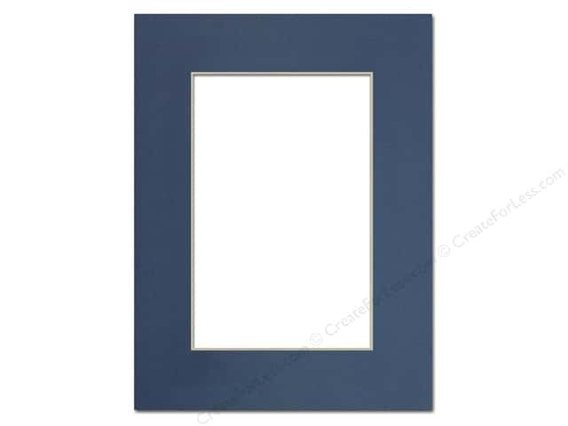 Pre Cut Photo Mat Board Cream Core 9 X 12 In Bay Blue Createforless